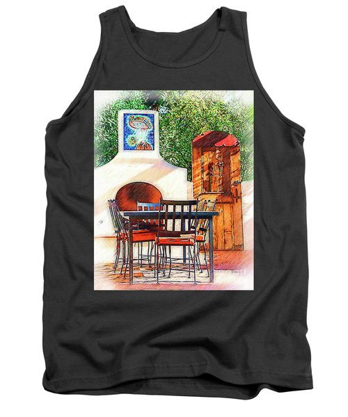 The Fireplace, Table And Door Tank Top