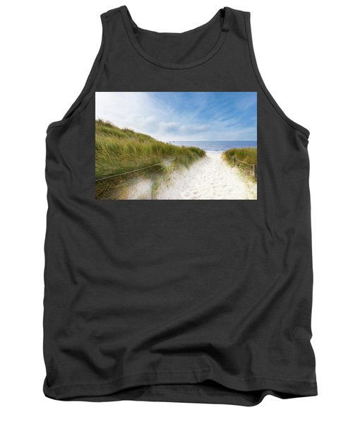 Tank Top featuring the photograph The First Look At The Sea by Hannes Cmarits