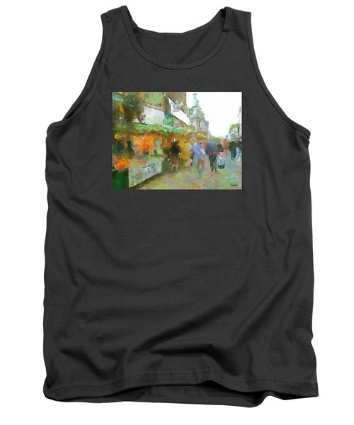 Tank Top featuring the painting The Food Fair by Wayne Pascall