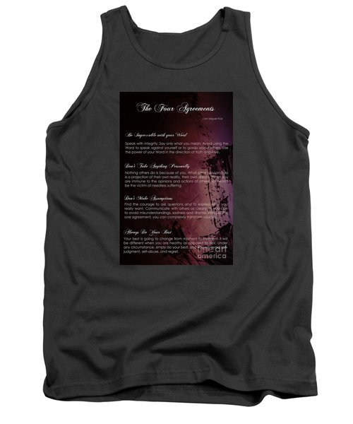 The Four Agreements 3 Tank Top by Andrea Anderegg