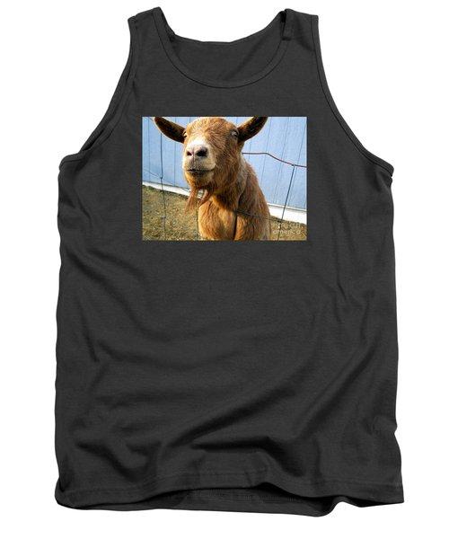 The Friendly Goat  Tank Top by Sandra Church
