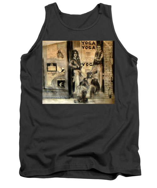 Tank Top featuring the drawing The Gang by Albert Puskaric