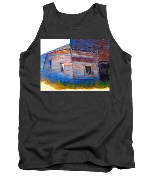 Tank Top featuring the photograph The Garage by Susan Kinney