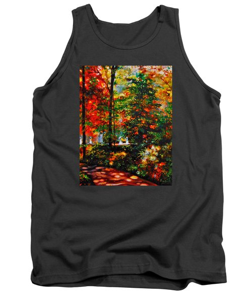 Tank Top featuring the painting The Garden by Emery Franklin