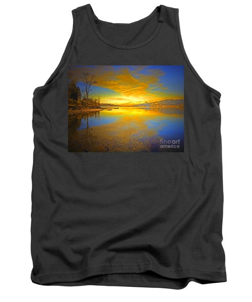 The Golden Clouds Of Winter Tank Top