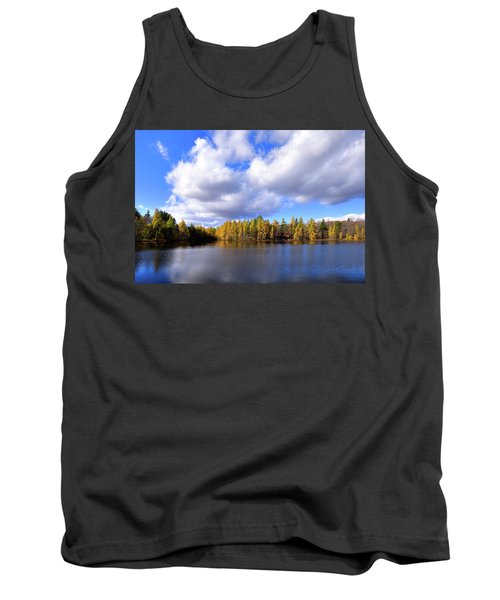 Tank Top featuring the photograph The Golden Forest At Woodcraft by David Patterson