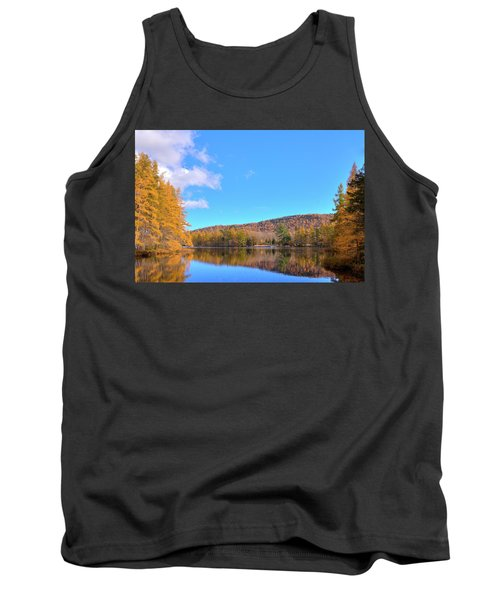 Tank Top featuring the photograph The Golden Tamaracks Of Woodcraft Camp by David Patterson