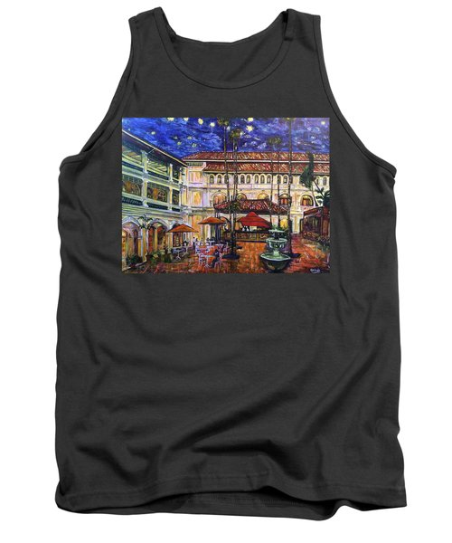The Grand Dame's Courtyard Cafe  Tank Top by Belinda Low