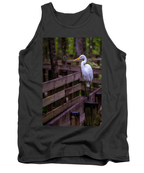 The Great Egret Tank Top