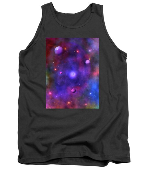Tank Top featuring the digital art The Great Unknown by Bernd Hau