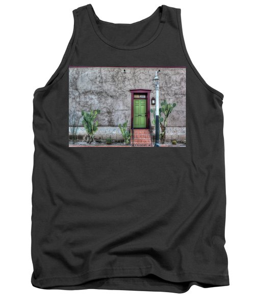 Tank Top featuring the photograph The Green Door by Lynn Geoffroy