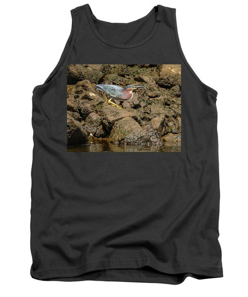 The Green Heron Tank Top by Jerry Cahill