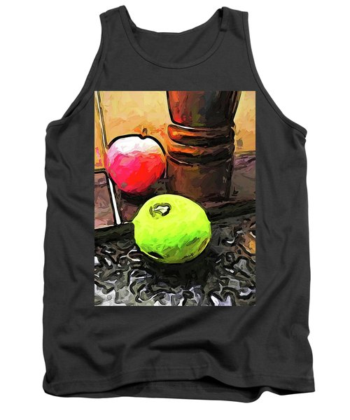 The Green Lime And The Apple With The Pepper Mill Tank Top