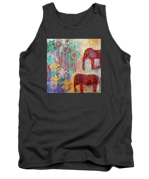 Tank Top featuring the mixed media The Guardians Of Night And Day by Mimulux patricia no No