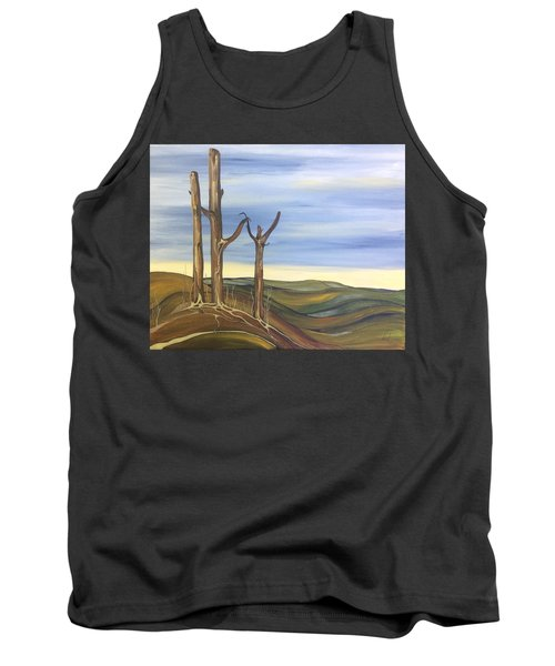 Tank Top featuring the painting The Guardians by Pat Purdy