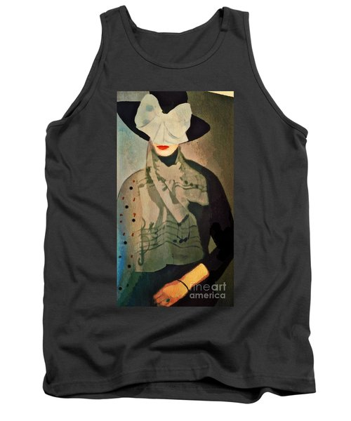 Tank Top featuring the digital art The Hat by Alexis Rotella