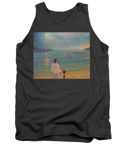 Tank Top featuring the painting The Homecoming by Donna Tucker