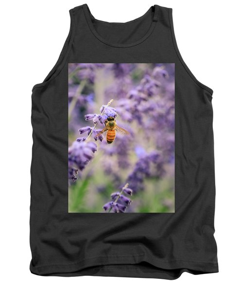 The Honey Bee And The Lavender Tank Top