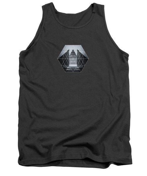 The Hotel Experimental Futuristic Architecture Photo Art In Modern Black And White Tank Top