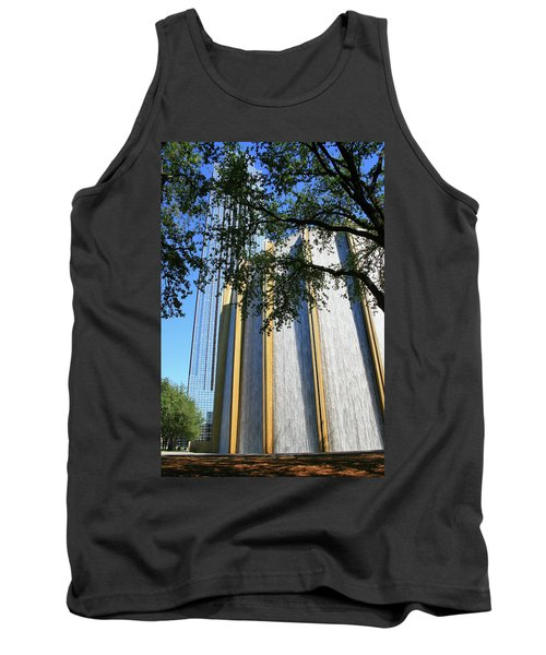 The Houston Water Wall And Williams Tower Tank Top