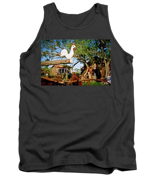 Tank Top featuring the photograph The Iron Chicken by Linda Unger