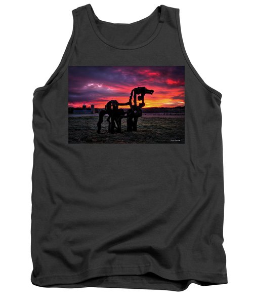 The Iron Horse Sun Up Art Tank Top