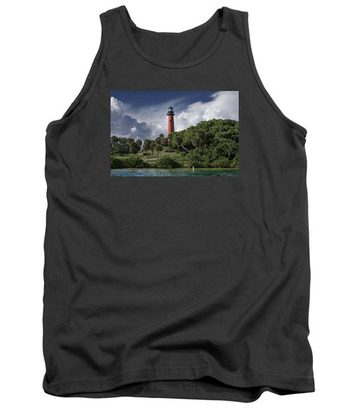 The Jupiter Inlet Lighthouse Tank Top by Laura Fasulo