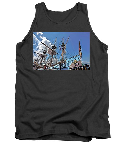 Tank Top featuring the photograph The Kalmar Nyckel - Delaware by Brendan Reals