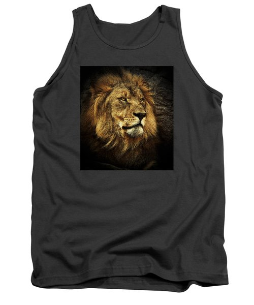 Tank Top featuring the mixed media The King by Elaine Malott
