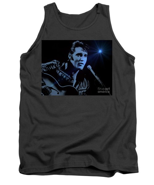 The King Rocks On Tank Top by Al Bourassa