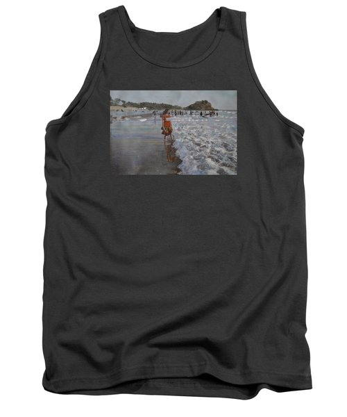 Tank Top featuring the painting The Konkan Beach by Vikram Singh