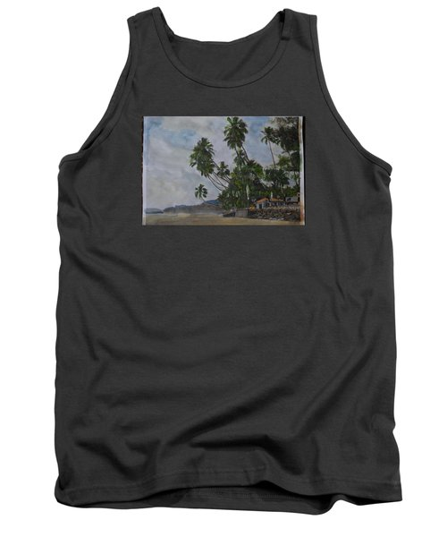 Tank Top featuring the painting The Konkan Coastline by Vikram Singh