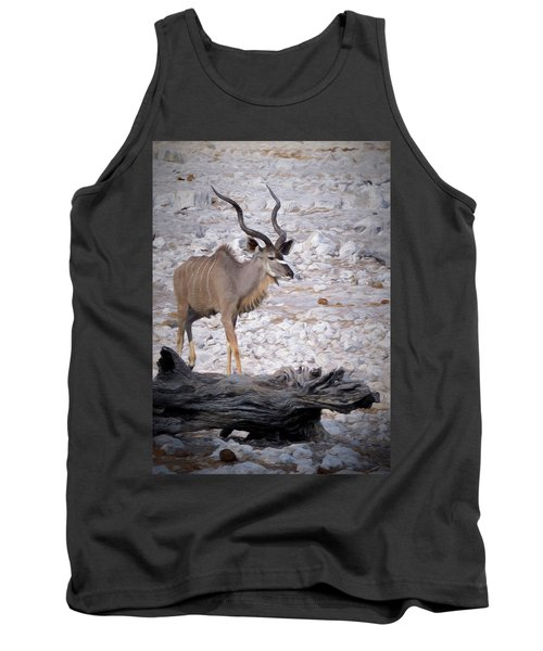 Tank Top featuring the digital art The Kudu In Namibia by Ernie Echols