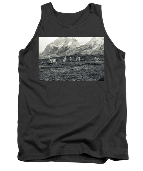 Tank Top featuring the photograph The Lamas by Andrew Matwijec