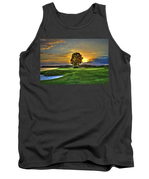 The Landing Golf Course Reynolds Plantation Landscape Art Tank Top