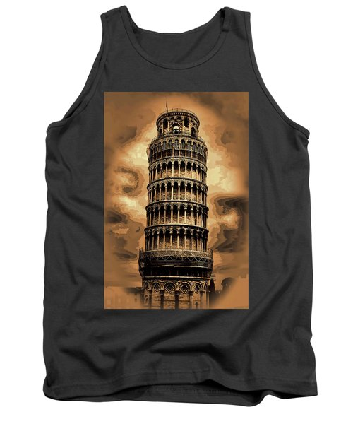 Tank Top featuring the photograph The Leaning Tower Of Pisa by Tom Prendergast