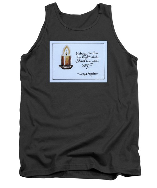 Tank Top featuring the painting The Light Which Shines From Within by Elizabeth Robinette Tyndall