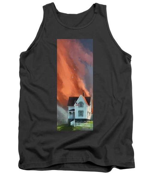 The Lighthouse Keeper's House Tank Top by Lois Bryan