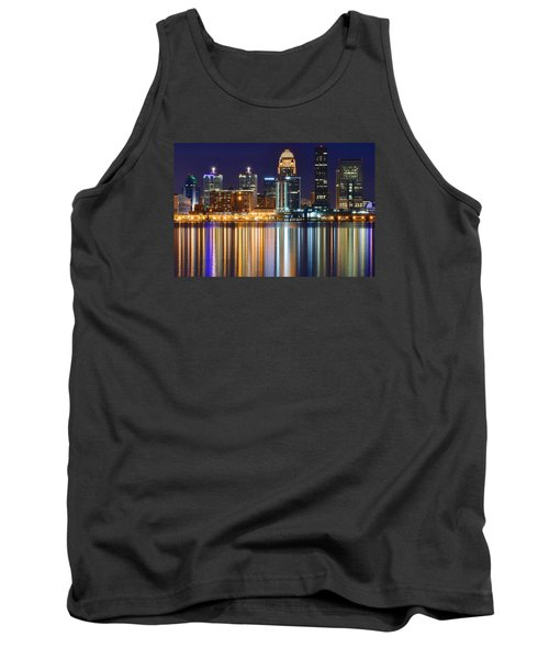 The Lights Of A Louisville Night Tank Top by Frozen in Time Fine Art Photography