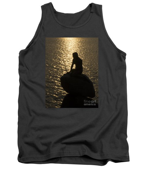 Tank Top featuring the photograph The Little Mermaid by Inge Riis McDonald