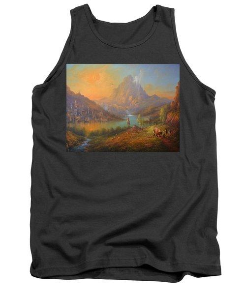 The Lonely Mountain Smaug Tank Top by Joe  Gilronan