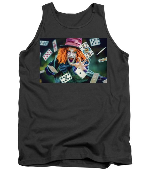 Tank Top featuring the photograph The Mad Hatter Alice In Wonderland by Dimitar Hristov