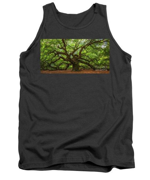 The Magical Angel Oak Tree Panorama  Tank Top