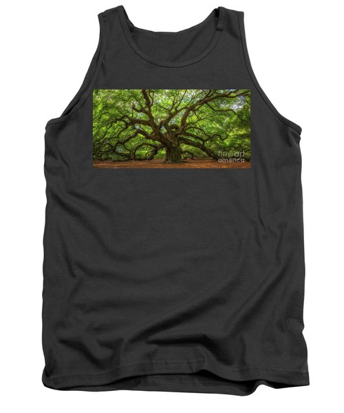 The Magical Angel Oak Tree Panorama  Tank Top