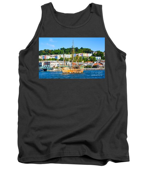 The Matthew In Bristol Harbour Tank Top by Colin Rayner