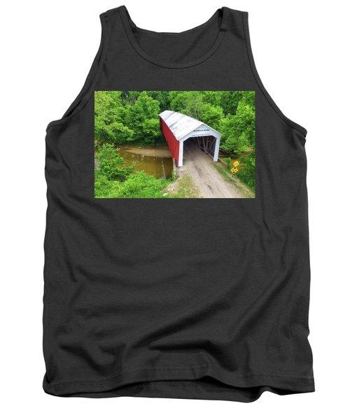 The Mcallister Covered Bridge - Ariel View Tank Top