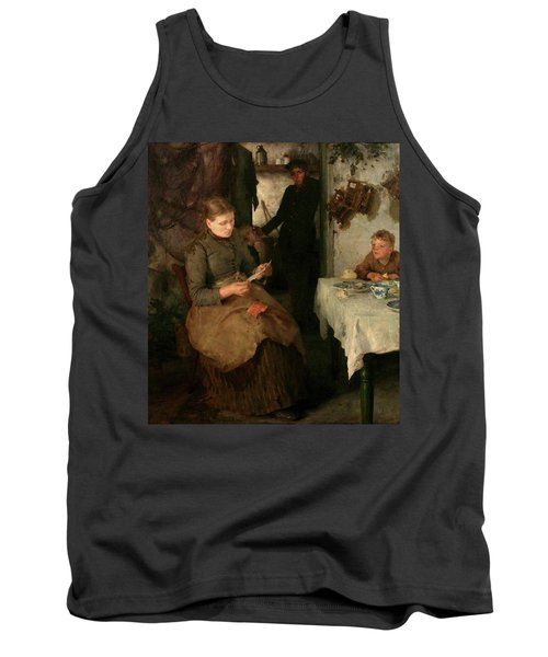 Tank Top featuring the painting The Message by Henry Scott Tuke