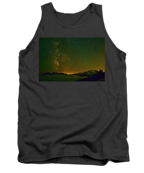 The Milky Way And Mt. Rainier Tank Top