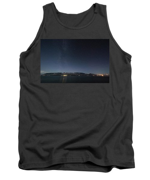 The Milky Way Over Northern Iceland Tank Top