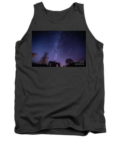 The Milky Way Over Strata Florida Abbey, Ceredigion Wales Uk Tank Top